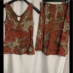 Kim Rogers matching Set..Skirt w/ V sleeveless top